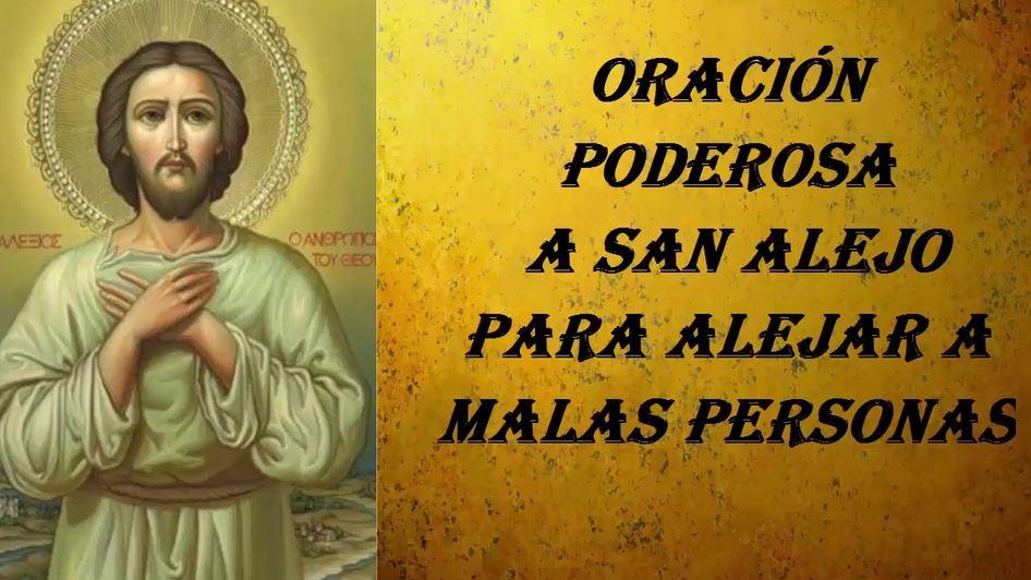 oración a san alejo para alejar personas indeseables