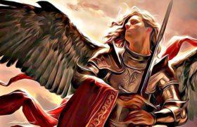 san miguel arcangel con su espada