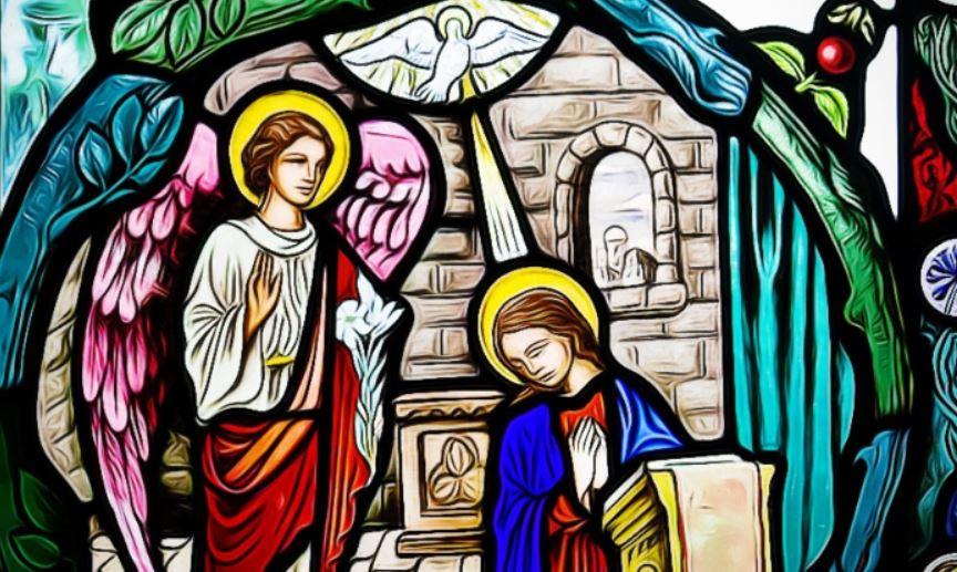 angelus ave maria virgen rezando